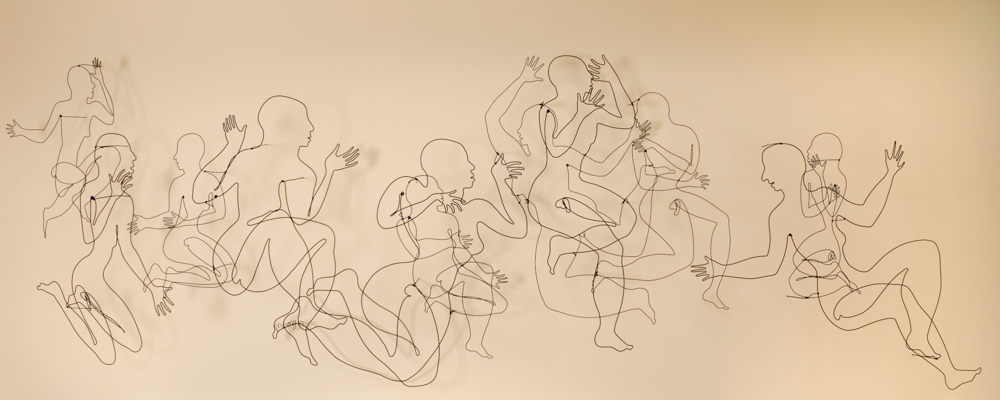 """Pamela Merory Dernham, """"Always Asking"""", 2005, wire sculpture"""