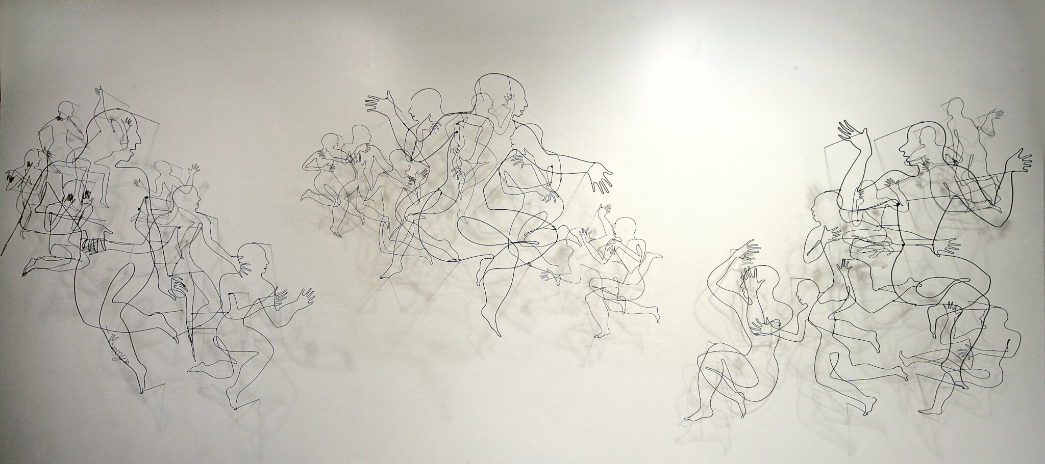 "Pamela Merory Dernham, ""Finding Common Ground"", wire sculpture"