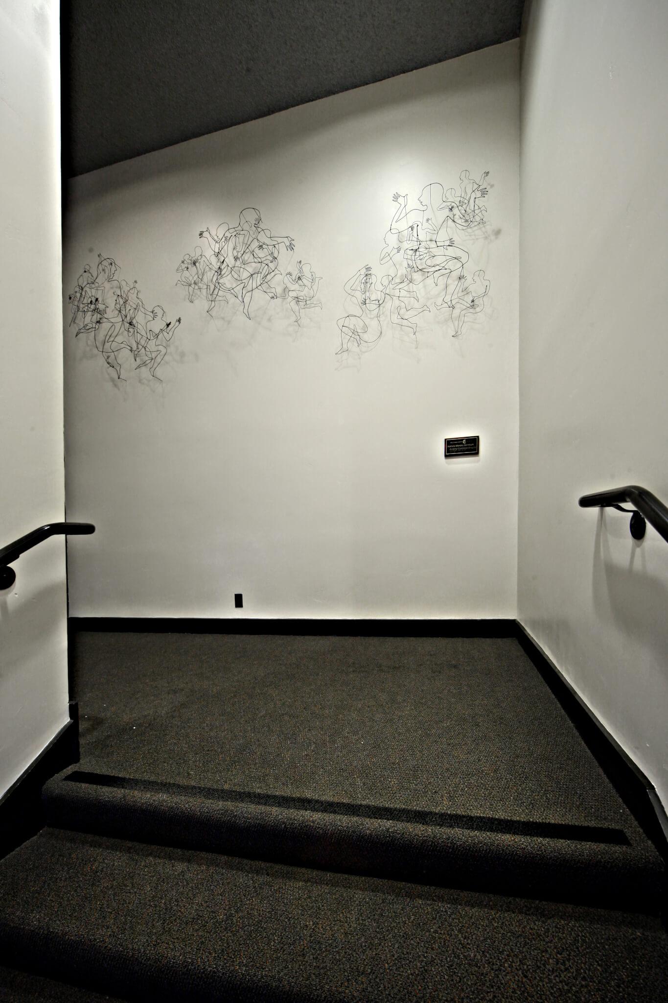"""Pamela Merory Dernham, """"Finding Common Ground"""", wire sculpture, site"""