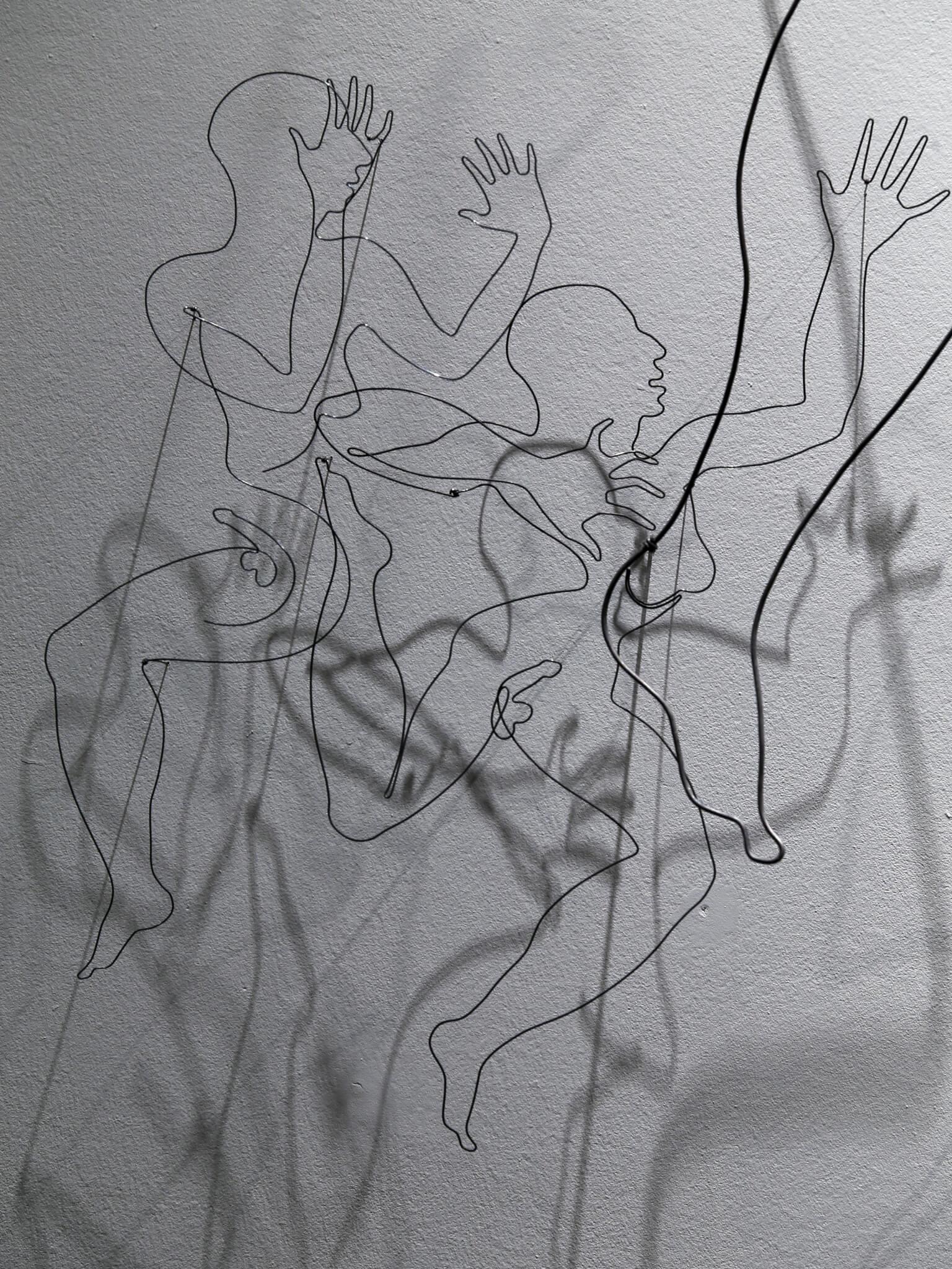 "Pamela Merory Dernham sculpture, ""The Hermaphrodite: Gender Bender, detail"