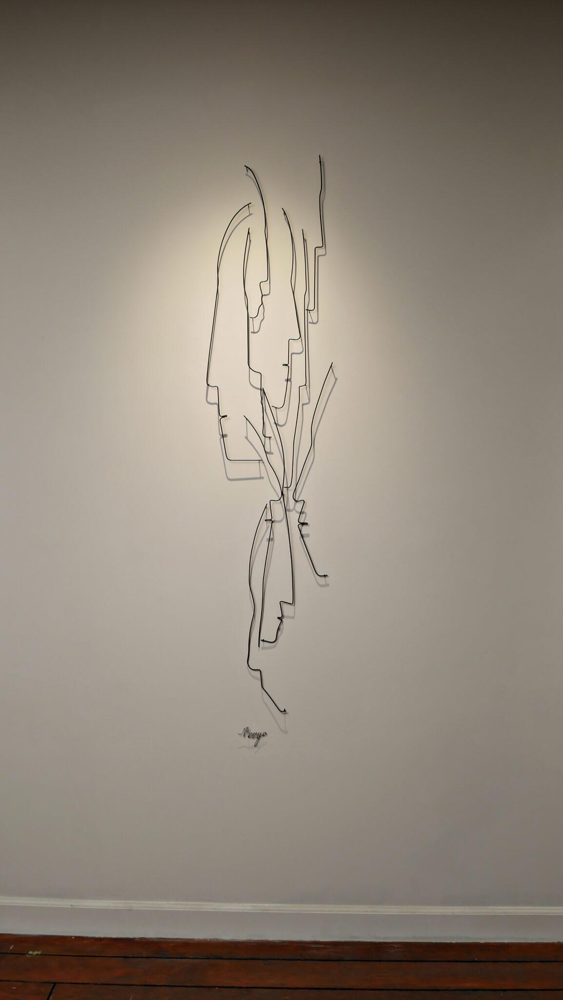 Pamela Merory Dernham, wire sculpture, Vertical Landscape #3, context
