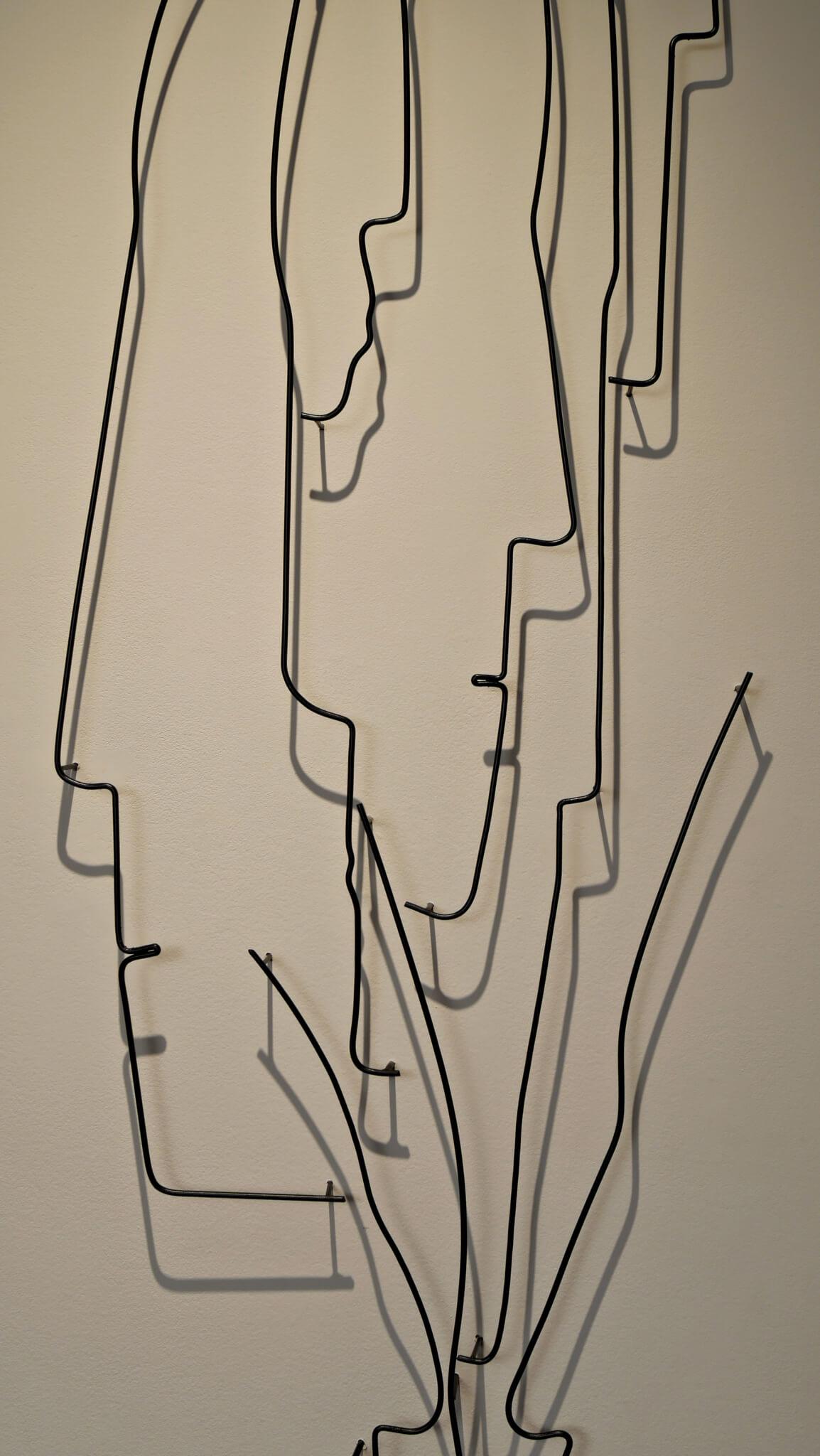 Pamela Merory Dernham, wire sculpture, Vertical Landscape #3, detail
