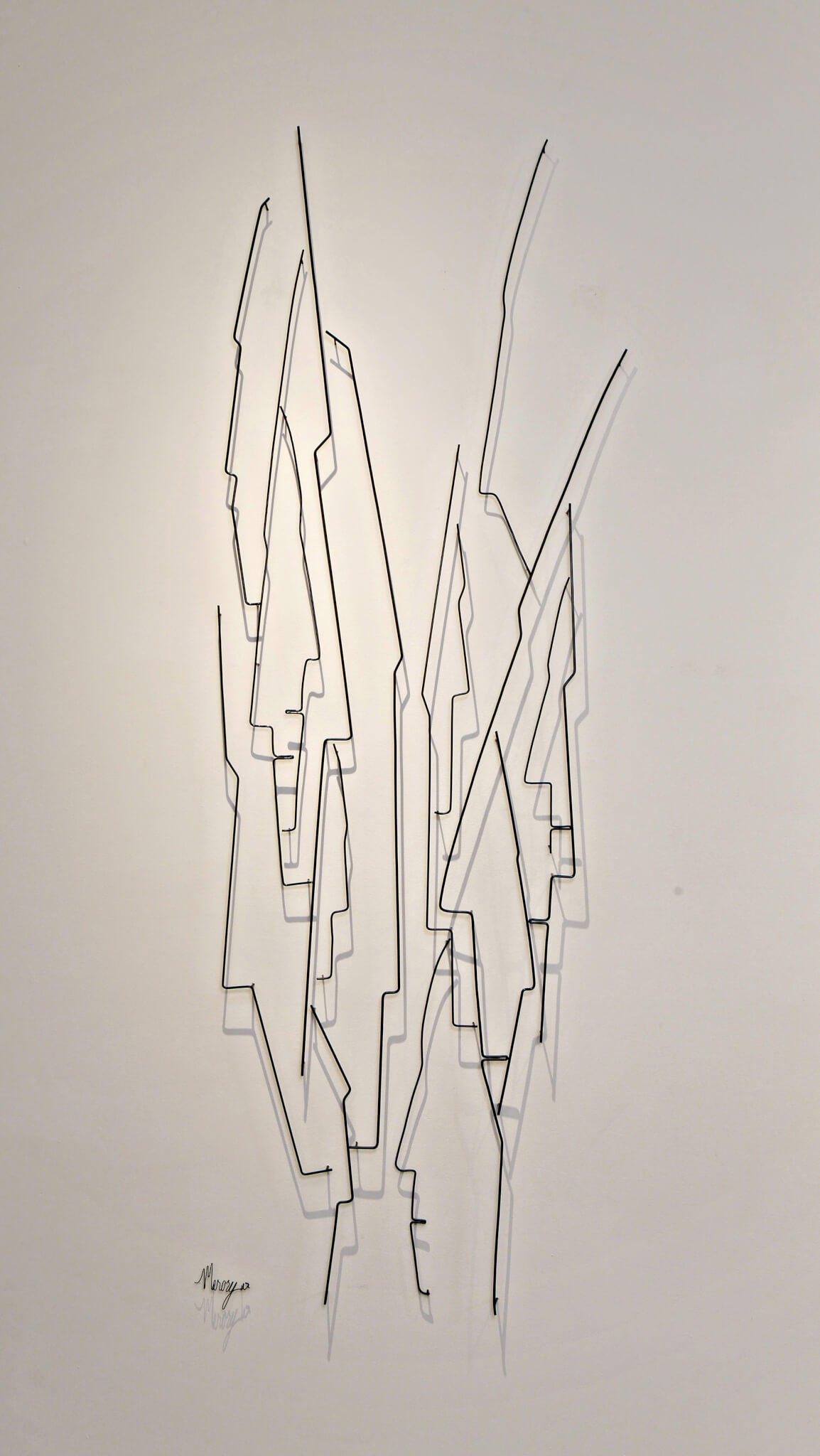 Pamela Merory Durnham, Vertical Landscape #6, wire sculpture, close up