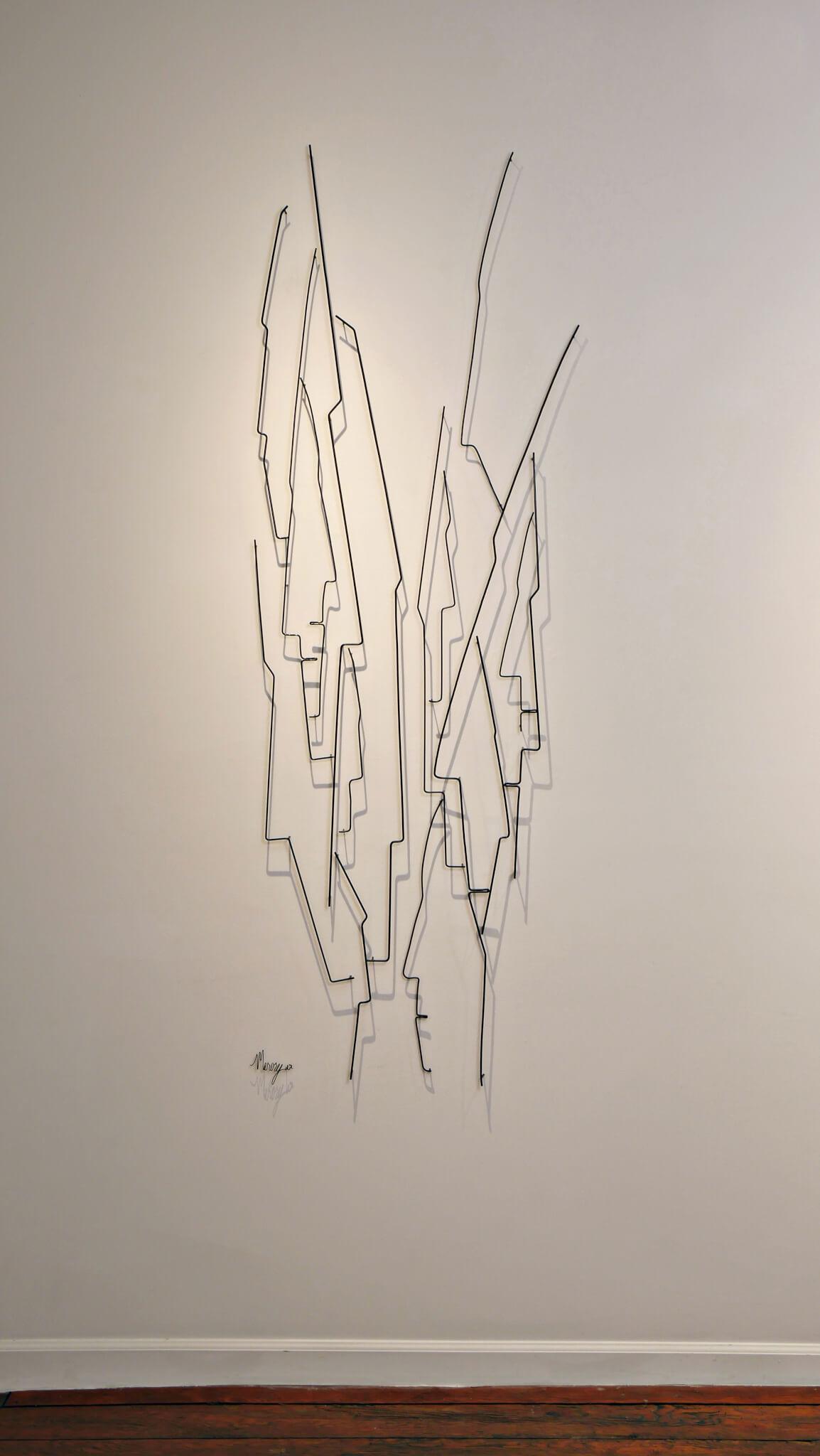 Pamela Merory Durnham, Vertical Landscape #6, wire sculpture