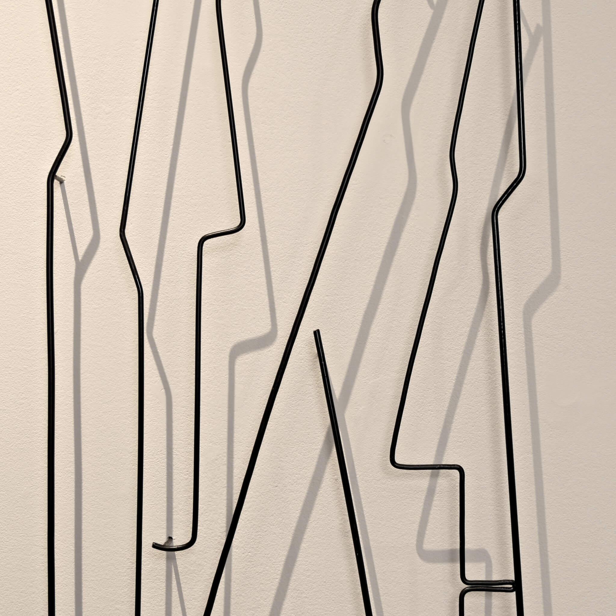 Pamela Merory Durnham, Vertical Landscape #6, wire sculpture, detail