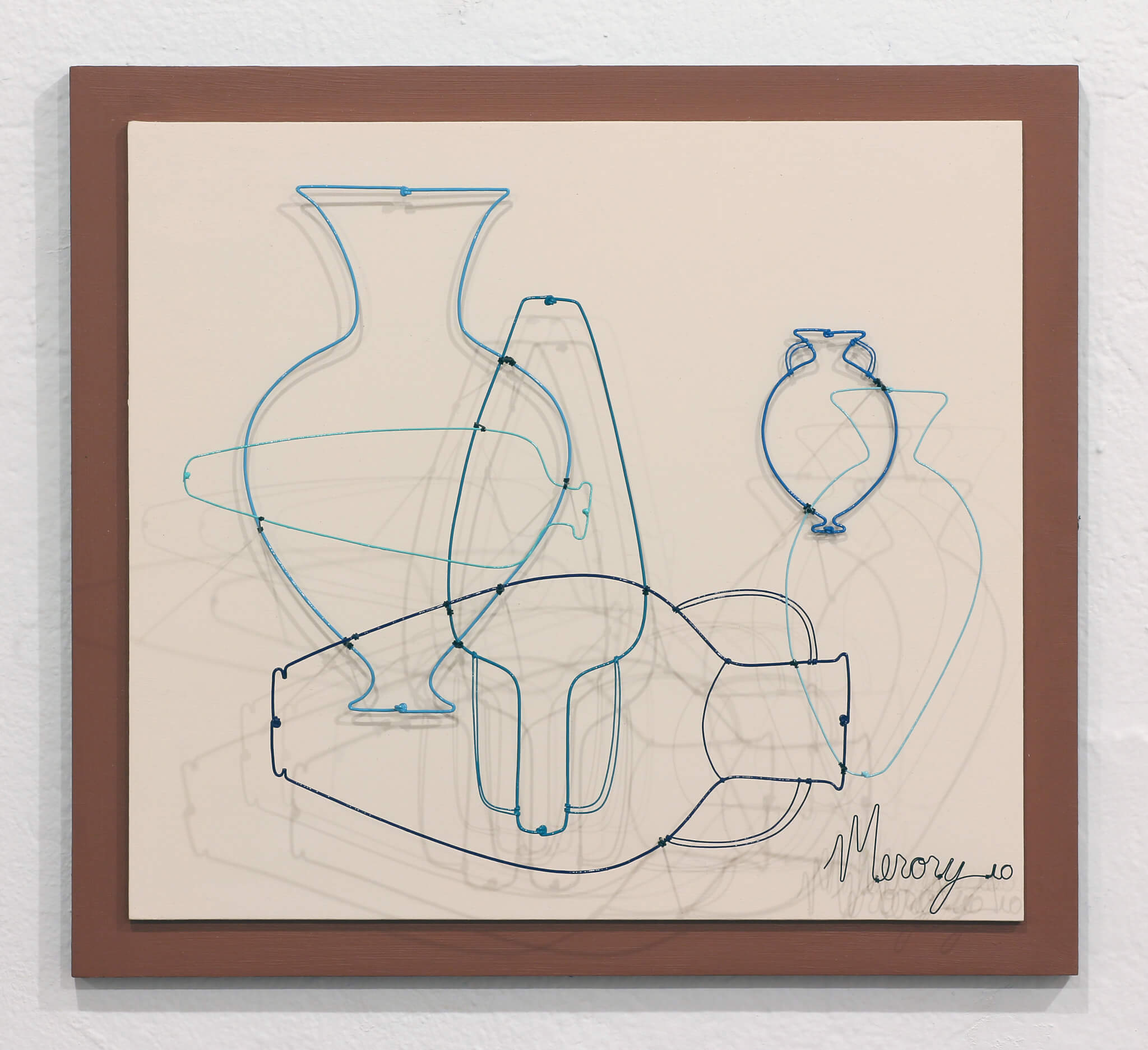 "Pamela Merory Dernham, ""Vessel Arrangement No. 3 in Various Blues"", 2010"