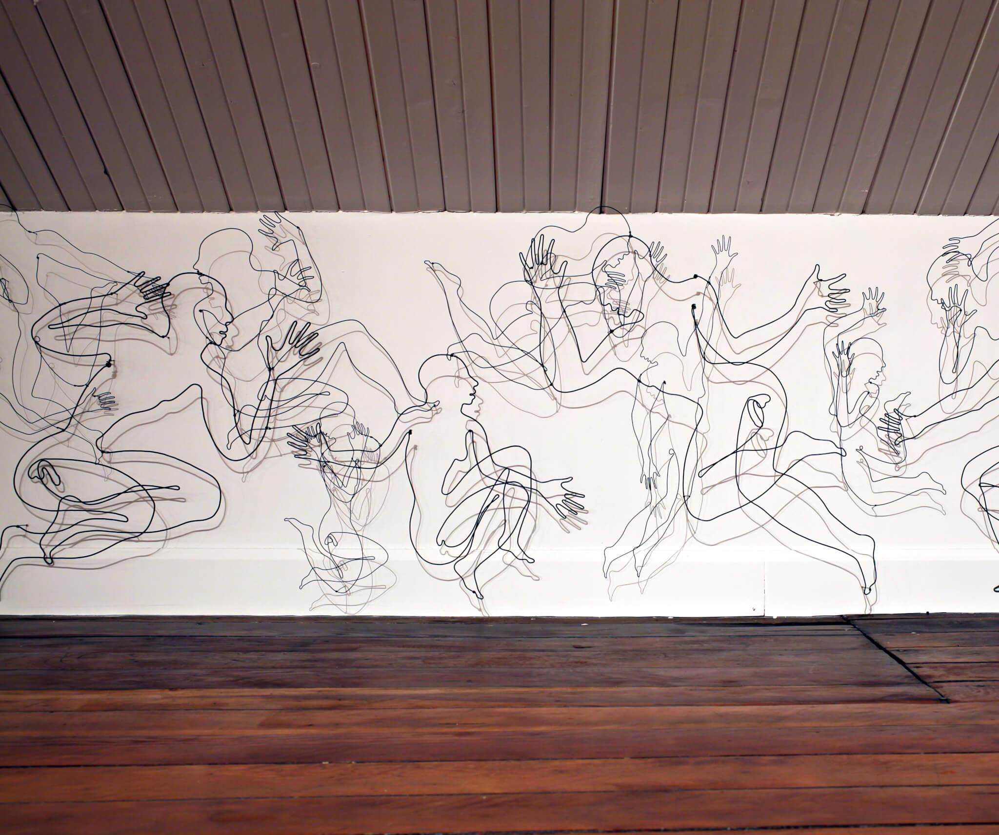 "Pamela Merory Dernham, ""Vessel Frieze"", 2011, detail"