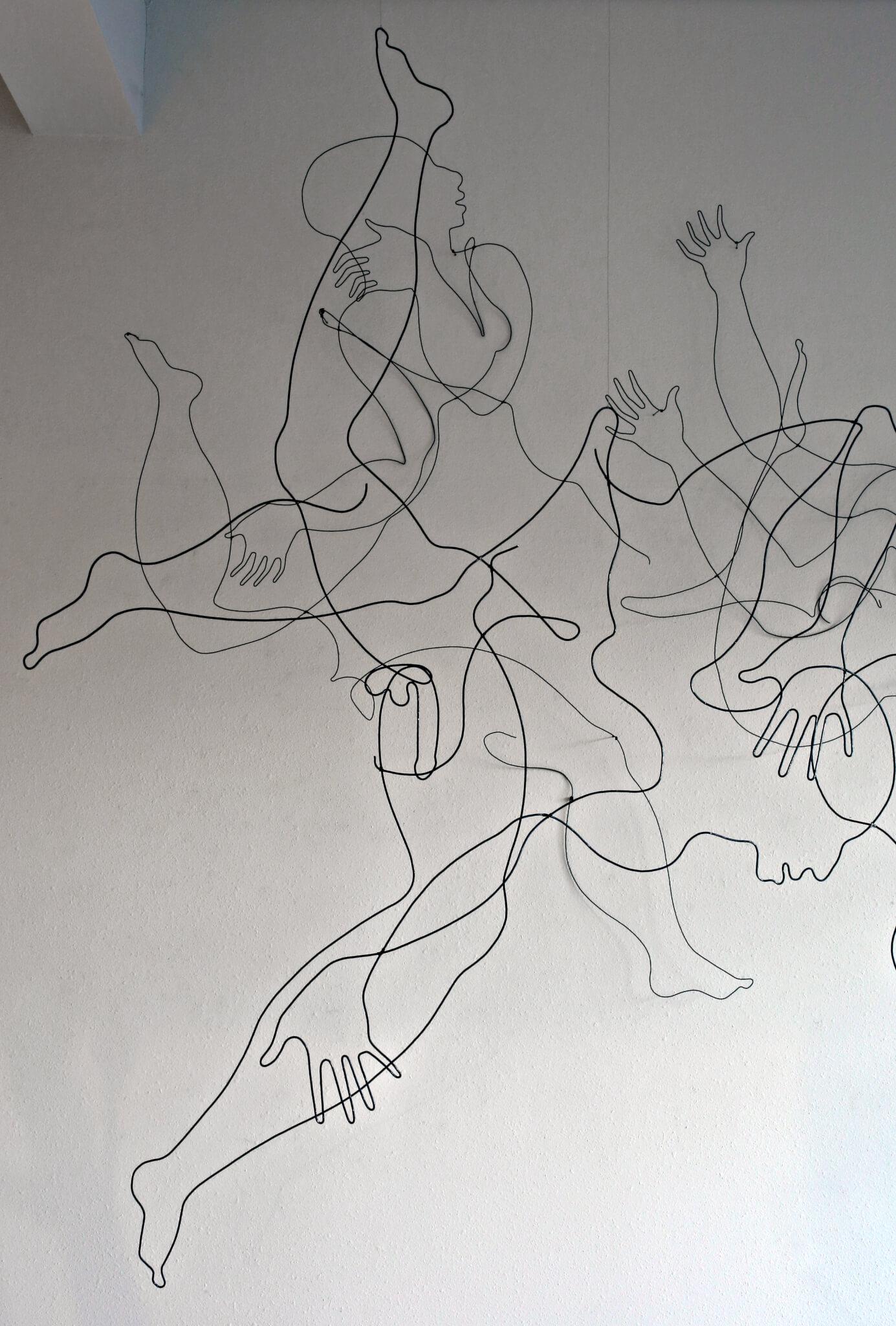 """Pamela Merory Dernham, """"Whether Patterns #2"""", 2014, detail 1"""