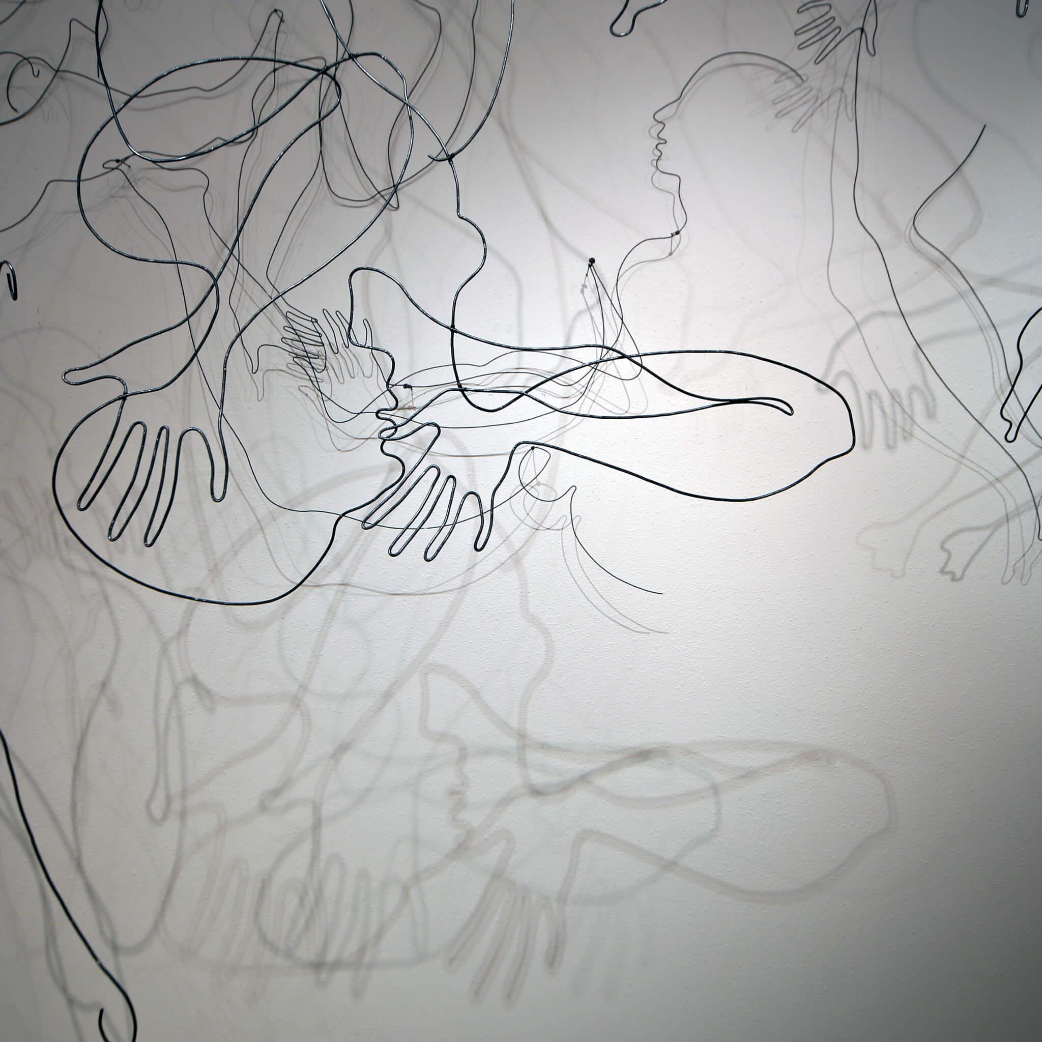 """Pamela Merory Dernham, """"Whether Patterns #2"""", 2014, detail 2"""