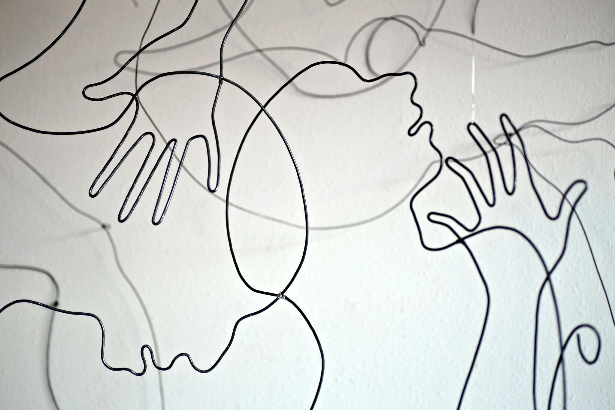 """Pamela Merory Dernham, """"Whether Patterns #2"""", 2014, detail 3"""